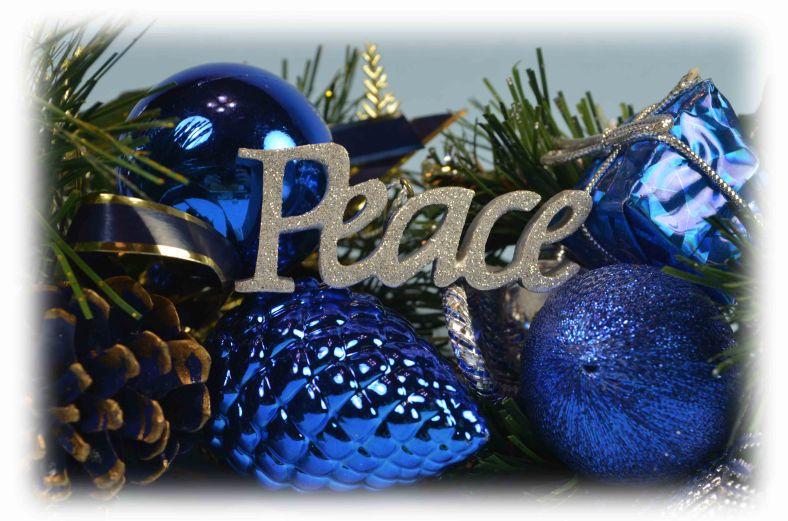 christmas peace decoration
